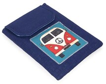 Ipad Mini Cover,  VW Camper Van Blue, Handmade Tablet Case, UK Seller,