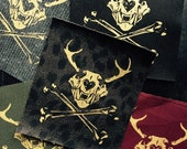 Antlered Skull and Crossbone Patch