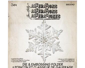 Tim Holtz Alterations Sizzix BIGZ Dies LAYERED SNOWFLAKE - 660040