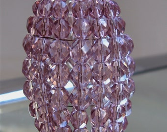 Petite Amethyst Beaded Light Bulb Cover, Chandelier Shade, Sconce Shade, Candelabra Lighting, Lamp Shade, Shabby Chic Lighting