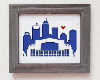 Indianapolis, Indiana (Lucas Oil Stadium).   Personalized Gift or Wedding Gift