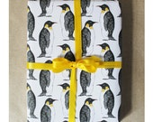 Penguin Gift Wrap - Christmas wrapping paper - penguin wrapping paper - gift wrap for men - birthday wrapping paper - penguin - decoupage
