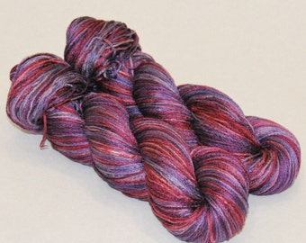Lavender song- Mulberry silk 100%б handdyed yarn 100g