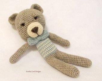 Crochet Teddy Bear, Amigurumi, Teddy Bear, Stuffed Bear Toy, Crocheted Toy