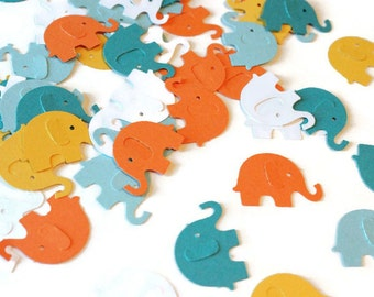 Elephant confetti punches - you select the quantity