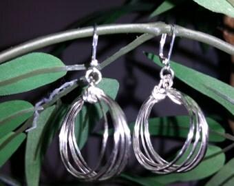 Lucky Loops Silver Earrings