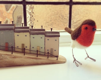 Robin Needle Felted Bird Ornament