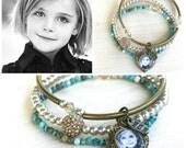 Photo Bracelet, Photo Charm Bracelet, Personalized Bracelet, Picture Bracelet, Stacking Bracelets, Vintage Style Bracelets, Gift for Mom
