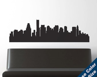 Boston Skyline Wall Decal - Vinyl Sticker  -  Massachusetts