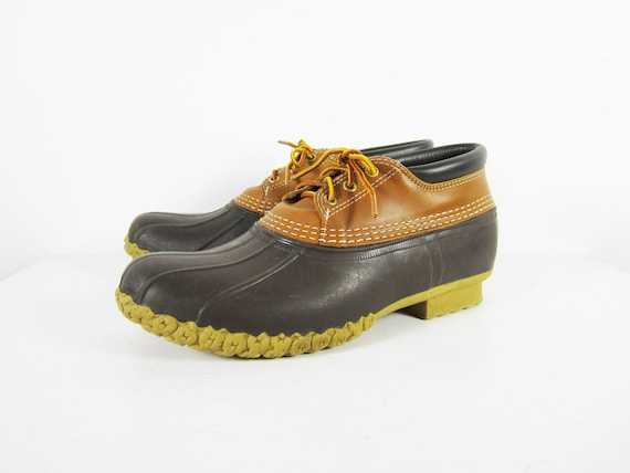 LL Bean Boots Duck Boots Low Top Shoes Leather Rubber Winter