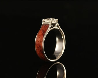 Cathedral Wooden Engagement Ring