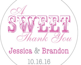 80 - 2 inch Custom Glossy Waterproof Wedding Stickers Labels - many designs to choose from - change designs to any color or wording WR-027