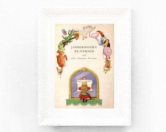 4x6 Guinness Alice in Wonderland Illustration Original Advertisement Book Plate Ireland Brewerania Advert Gilroy Illustration Mad Hatter