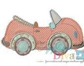 Summer Convertible Bug Car Digital Embroidery Design Machine Applique