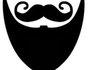 Mustache Men Man Facial Hair Handlebar Beard Gotee - Digital Image - Vintage Art Illustration - Instant Download