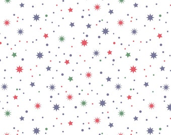 Orion White Stars from Blend Fabrics