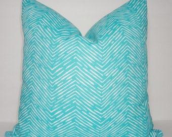OUTDOOR Decorative Pillow Zebra Print Ocean Blue/White Beach Deck Pool Pillows All Sizes
