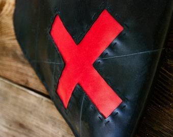 X - RED innertube / inner tube rubber messenger /sling bag