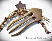 Argentine Lignum Vitae Handmade Hair Fork
