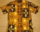 Mens Vintage 60s Hawaiian Holiday Tribal Wonder Hawaiian Shirt - M -  The Hana Shirt Co