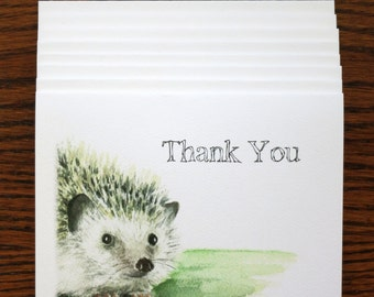 Set of 8 Hedgehog Thank You Cards - (SET 8H)