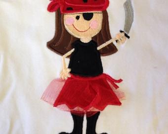 Girls pirate Shirt - Gasparilla - Infant or Toddler - Personalized - Boutique - Skull Shirt - Gasparilla Kids Shirt