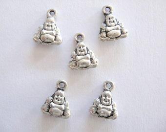 Tiny Buddha Charms lead free pewter~Buddha Charms~Buddah~Pewter Buddahs