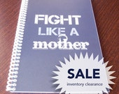 SALE: Fight Like a Mother Workout Journal (Blue)
