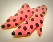 Custom order for Dominique- Polka Dots High Heels shoes