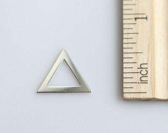 Triangle Charm, Silver Triangle Charm, 925 Sterling Silver Charm, Sterling Silver cut out triangle charm, Geometric Charm, 16mm ( 1 piece )