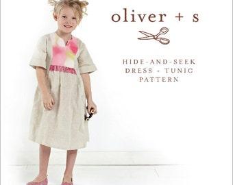 Oliver + S Hide-And-Seek Dress + Tunic Pattern, Sz 5 - 12