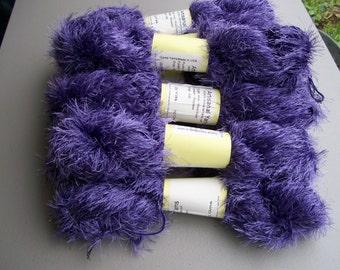 Fun Fur Yarn Purple Long Eyelash  #207 by Artisanal Yarns