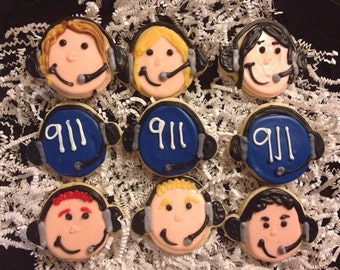 911 Dispatcher Sugar Cookies Telecommunitcations Week