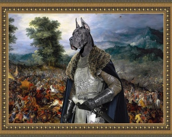 Great Dane Art Print Canvas Fine Artwork Gallery Wrap or Museum Wrap Canvas Dog Print by Nobili...