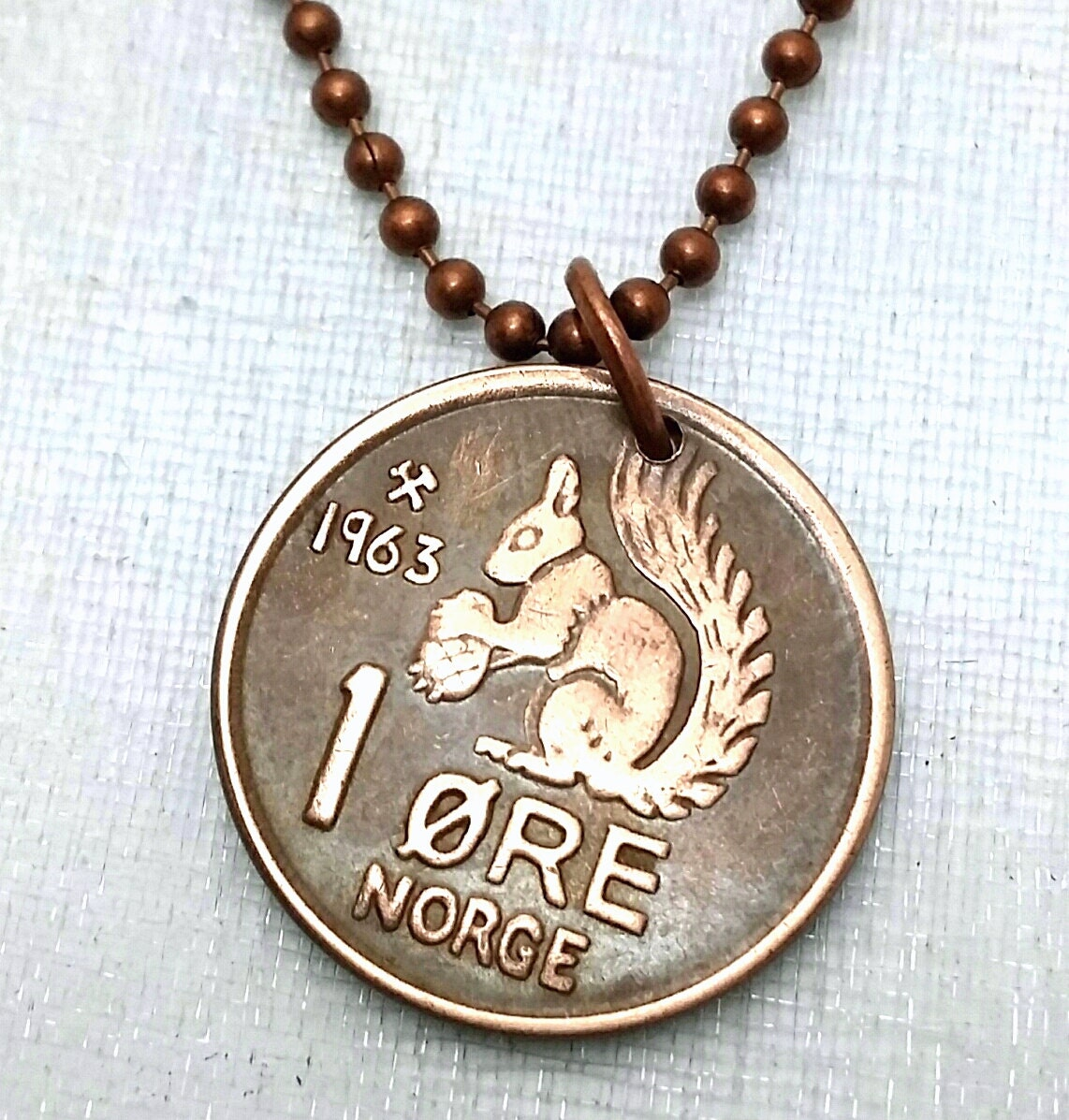 squirrel necklace coin jewelry vintage squirrel coin from