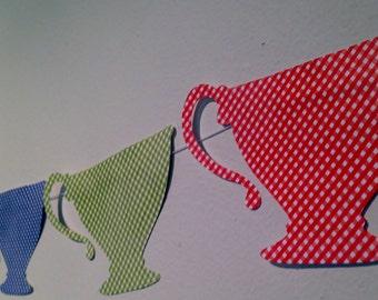 Tea Cup Garland