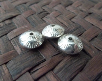 Artist Crafted Southwestern Sterling Silver Bead