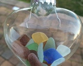 Sea Glass Ornament Greetings from the Jersey Shore