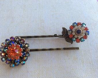 Bobby Pins, Swarovski Crystal Bobby Pin, Flower Hair Pins, Hair Accessories