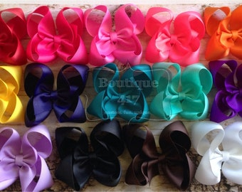 14 Solid Large Twisted Boutique Bow bundle & save