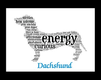 Dachshund, Doxie, Dachshund Art, Dachshund Custom, Weiner Dog, Dachshund Picture, Dachshund Print, Dog Lover, Dachshund Gifts,Wiener Dog