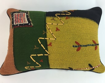 Ethnic knitted art with lots of detail.