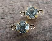 24 Gold Rhinestone Connectors 11mm