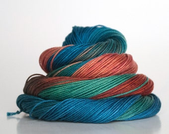 Size 30, hand dyed tatting thread / crochet cotton