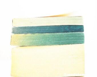 Photo - Un après-midi à Helsinki, fine art print vintage books, Rothko inspired, urban chic, industrial decor, blue, grey, gray, 8x8, 8x10