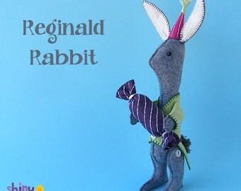 Reginald Rabbit - Easter Bunny Felt Softie Pattern PDF