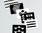 Black and White Baby Geometry Art Cards- Montessori inspired-INSTANT PDF DOWNLOADS