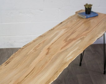NEW SALE: Live Edge Maple CONSOLE Table - Wood - Natural - Modern