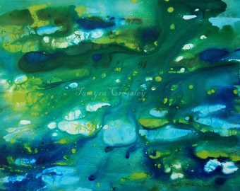 Water Movement Original Acrylic Painting by Tamyra Crossley.  16 x 20