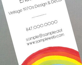 Rainbow Business Card - Set of 50